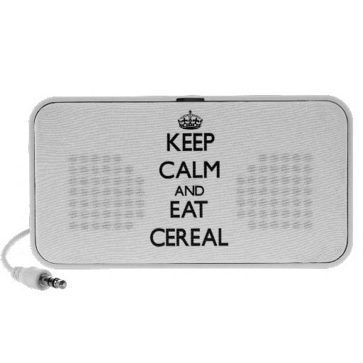 Keep calm and eat Cereal Notebook Speakers
