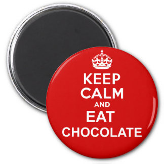 Keep Calm and Eat Chocolate 6 Cm Round Magnet
