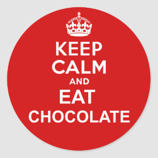 Keep Calm and Eat Chocolate Classic Round Sticker