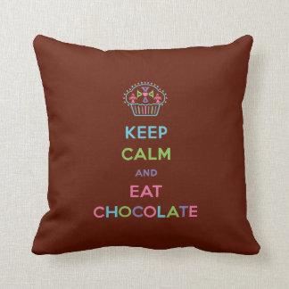 Keep Calm and Eat Chocolate - pillow