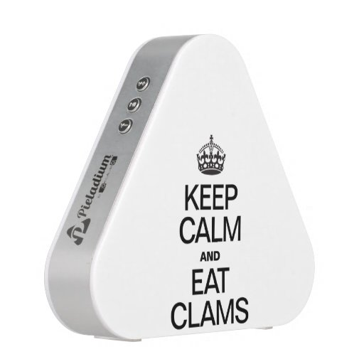 KEEP CALM AND EAT CLAMS BLUETOOTH SPEAKER