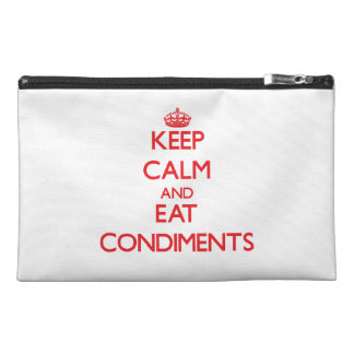Keep calm and eat Condiments Travel Accessories Bag