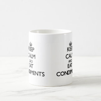 Keep calm and eat Condiments Basic White Mug