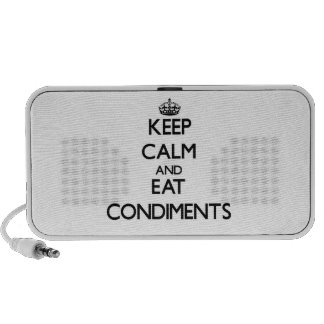 Keep calm and eat Condiments Speakers
