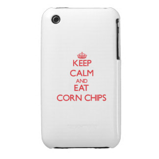 Keep calm and eat Corn Chips iPhone 3 Case