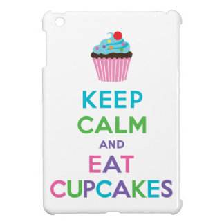 Keep Calm and Eat Cupcakes 2 white iPad mini case