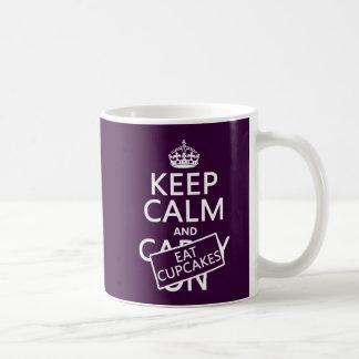 Keep Calm and Eat Cupcakes Basic White Mug