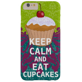 KEEP CALM AND Eat Cupcakes-change aqua any color Barely There iPhone 6 Plus Case