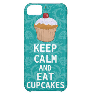 KEEP CALM AND Eat Cupcakes change teal any color iPhone 5C Case