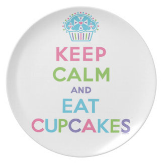 Keep Calm and Eat Cupcakes - plate