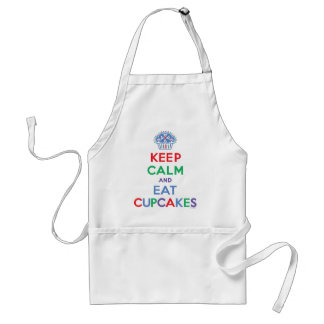 Keep calm and eat cupcakes primary standard apron