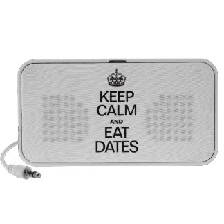 KEEP CALM AND EAT DATES PC SPEAKERS