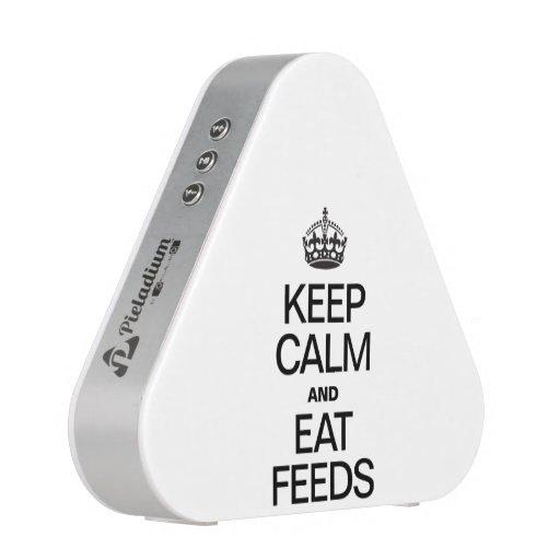 KEEP CALM AND EAT FEEDS BLUETOOTH SPEAKER