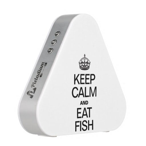 KEEP CALM AND EAT FISH BLUETOOTH SPEAKER