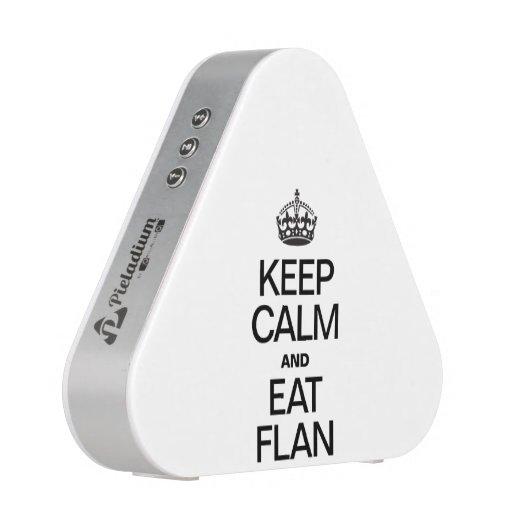 KEEP CALM AND EAT FLAN BLUETOOTH SPEAKER