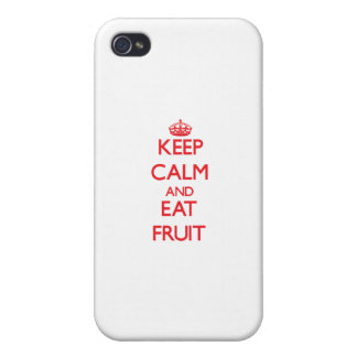 Keep calm and eat Fruit Case For iPhone 4