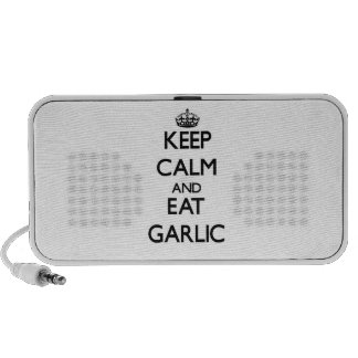 Keep calm and eat Garlic Mp3 Speakers