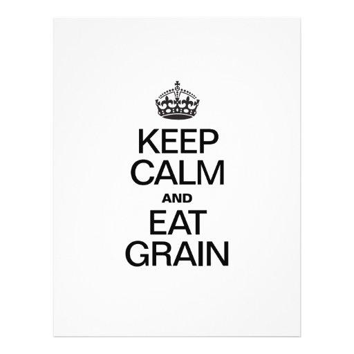 KEEP CALM AND EAT GRAIN FLYER DESIGN
