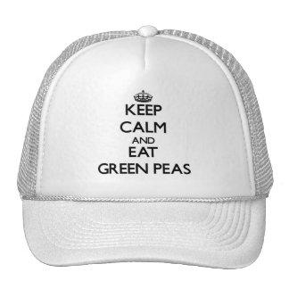Keep calm and eat Green Peas Mesh Hats