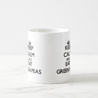 Keep calm and eat Green Peas Mug