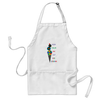 Keep Calm and Eat Ice Cream 2.2 Standard Apron