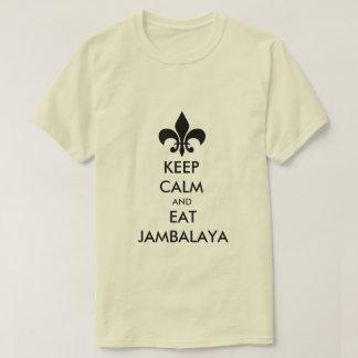 Keep Calm and Eat Jambalaya Louisiana Tee Shirt