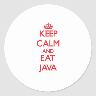 Keep calm and eat Java Stickers