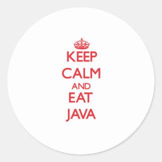 Keep calm and eat Java Sticker