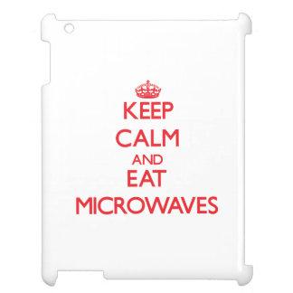 Keep calm and eat Microwaves iPad Cover