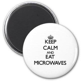 Keep calm and eat Microwaves Fridge Magnet