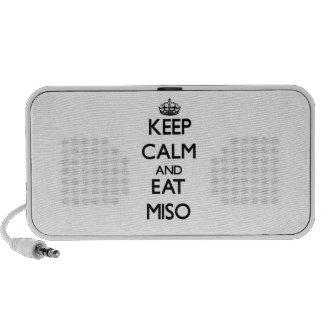 Keep calm and eat Miso Mini Speaker