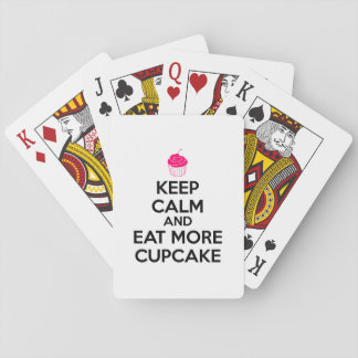Keep Calm And Eat More Cupcake Playing Cards