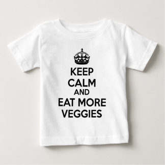 Keep Calm And Eat More Veggies Baby T-Shirt