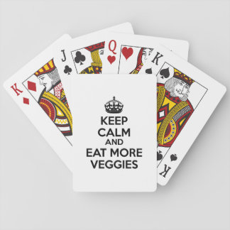 Keep Calm And Eat More Veggies Playing Cards