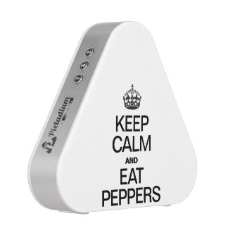 KEEP CALM AND EAT PEPPERS SPEAKER