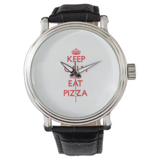Keep calm and eat Pizza Watch