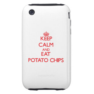 Keep calm and eat Potato Chips Tough iPhone 3 Case