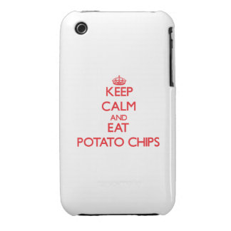 Keep calm and eat Potato Chips iPhone 3 Cover