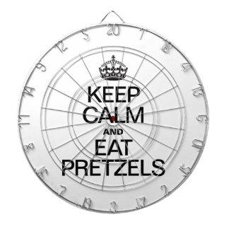 KEEP CALM AND EAT PRETZELS DARTBOARD