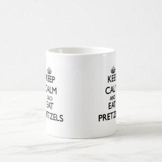 Keep calm and eat Pretzels Basic White Mug