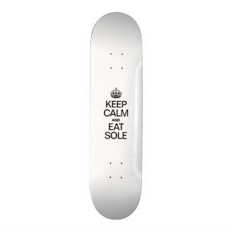 KEEP CALM AND EAT SOLE SKATE DECKS