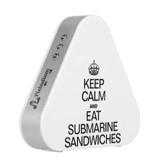 KEEP CALM AND EAT SUBMARINE SANDWICHES