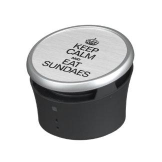 KEEP CALM AND EAT SUNDAES.ai Bluetooth Speaker