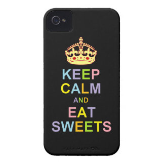 Keep Calm and Eat Sweets iPhone 4 Case