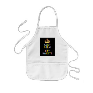 Keep Calm and Eat Sweets Kids Apron