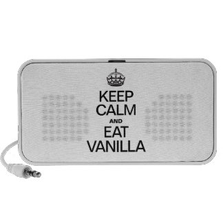 KEEP CALM AND EAT VANILLA NOTEBOOK SPEAKERS