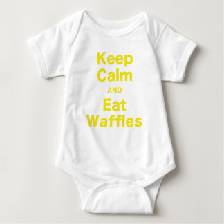 Keep Calm and Eat Waffles Baby Bodysuit