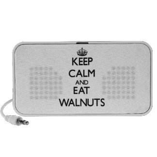 Keep calm and eat Walnuts iPhone Speakers