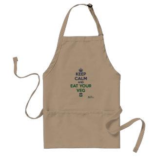 Keep Calm and Eat Your Veg apron