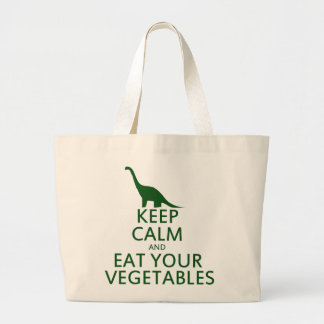 Keep Calm and Eat your Vegetables Large Tote Bag